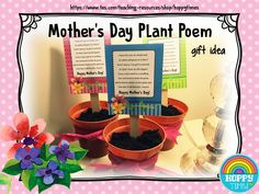 Free MOTHER'S DAY PLANT POEM (gift idea)