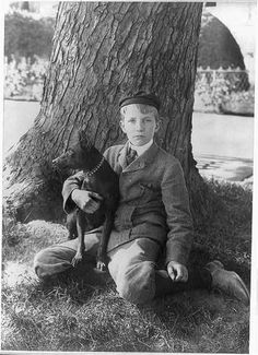 "KERMIT ROOSEVELT AND JACK ""THE DOG"" IN 1902"