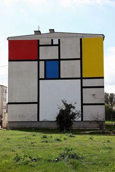 Mondrian mural blocks / Łukasiak Alice and Gregory Drozd