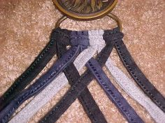 8 cord braid-use scrap denim etc make bracelets, belts