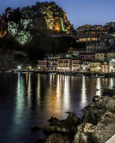Parga by night, Greece