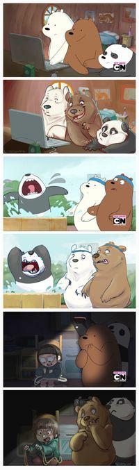 We Bare Bears Human, Ice Bear We Bare Bears, We Bear, Cartoon Network Shows, Cartoon Shows, Cartoon As Anime, Cartoon Art, Animated Cartoons, Cool Cartoons