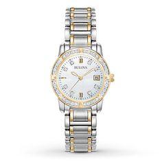 Bulova Women's 98R107 Diamond Accents Quartz Two Tone Dress Watch | Jewelry & Watches, Watches, Parts & Accessories, Wristwatches | eBay!