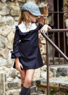 Ropa infantil con estilo Pepitobychus - /prfashionbeauty/fashion-kids/ BACK Look Girl, Little Fashionista, Little Girl Fashion, Girls Fashion Kids, Vintage Kids Fashion, Kid Styles, Little Girl Dresses, Vintage Girls Dresses, Kind Mode