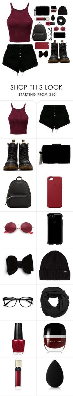 """// show me all your assets \\"" by addicted-to-a-memory ❤ liked on Polyvore featuring Nobody Denim, Dr. Martens, MANGO, Apple, Ray-Ban, Speck, EyeBuyDirect.com, Marc Jacobs, Clé de Peau Beauté and beautyblender"