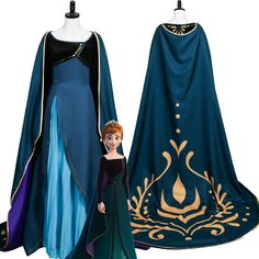 Anna Coronation Dress, Anna Dress, Cosplay Outfits, Cosplay Costumes, Party Wear Long Gowns, Disney Frozen, Frozen Kids, Frozen Elsa Dress, Dress Silhouette