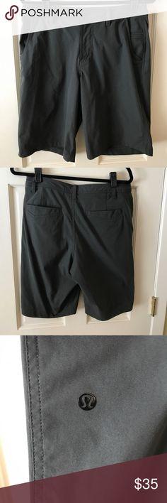 Men's Lululemon ABC short Men's Lululemon, dark gray, ABC short, 32 waist, barely worn, great condition lululemon athletica Shorts Hybrids