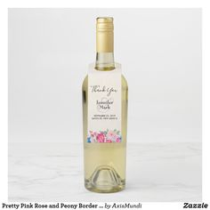 Dress up your bottle with Floral bottle tags from Zazzle! Great for wedding, promoting a business, or celebrating a graduation. Get some Floral bottle neck tags today! Wedding Wine Bottles, Wine Bottle Tags, Wine Tags, Wedding Labels, Wedding Favours, Bouquet Wedding, Wedding Ceremony, Wedding Thanks, Custom Wine Labels
