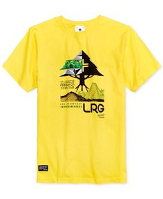 Lrg Men's Tree Tech Cotton Graphic-Print Logo T-Shirt