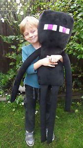 GIANT OVER 3FT EXTRA LARGE MINECRAFT ENDERMAN PLUSH MINKY SOFT TOY HALLOWEEN