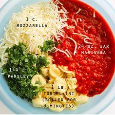 Five-Ingredient Cheesy Tortellini Bake