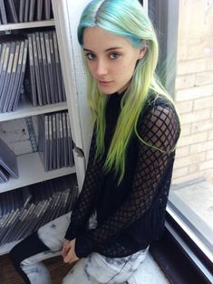 Chloe Norgaard Blue Hair Beauty