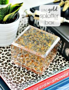 {DIY} Gold Splatter Box | Hi Sugarplum!