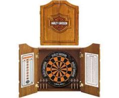 Harley Davidson Dart Board Cabinet   Oak #harley #darts #mancave #giftideas  | Gift Metropolis | Pinterest | Dart Board Cabinet, Dart Board And Men Cave