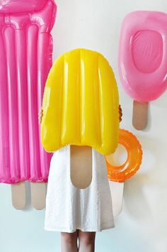 Popsicle Party DIY Decor. DIY Pool party. pool float.