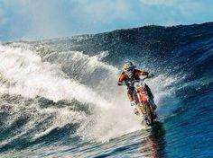 Surfing motorbike