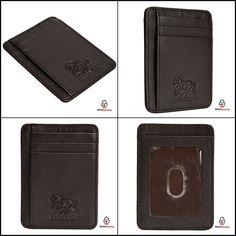 caf9ff3c8fb Front Pocket Wallet Minimalist Leather Slim MoneyClip RFID Blocking Brown  Pebble  Estalon  MoneyClip