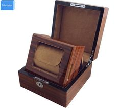 Top Luxury High Grade Best for Gift Classical Wooden Watch Box with Key Storage Display Box in Box, Factory Drop Shipping