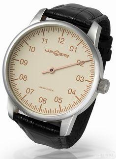 Lenzers LEW201WH-RO Einzeiger limited edition men's watch 48mm - Lenzers - Watch brands WatchXL.com