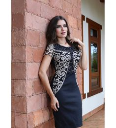 600233 - Vestido Executiva Bordado - Floratta Modas                                                                                                                                                                                 Mais                                                                                                                                                                                 Mais