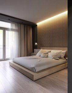 24 Stunning Minimalist Modern Master Bedroom Design Best Ideas ⋆ All About Home Decor Modern Master Bedroom, Master Bedroom Design, Trendy Bedroom, Contemporary Bedroom, Master Bedrooms, Bedroom Designs, Rustic Contemporary, Modern Bedroom Lighting, Modern Luxury Bedroom