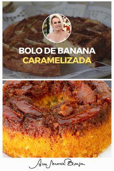 Bolo de banana caramelizada para acompanhar o seu café da tarde. Chefs, French Toast, Muffin, Sweets, Breakfast, Food, Sweet Like Candy, Conch Fritters, Easy Healthy Recipes