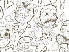 Adorable Zombies Sketch