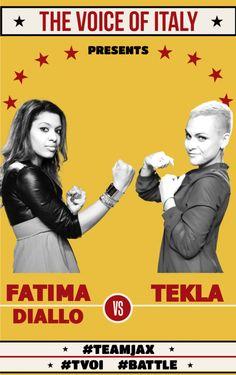 #Battle 2 - The Voice of Italy 2015 - #tvoi #FatimaDiallo vs #Tekla #TeamLoser