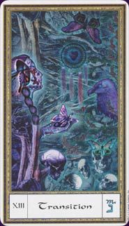 April 17 Tarot Card: Death (Gendron deck) Endings can be such a good thing. It may be hard or painful to let go, but the new opportunities for growth, positivity, and happiness have never been more fruitful Major Arcana, Tarot Decks, Tarot Cards, Mythology, Mystic, Cool Art, Death, Artsy, Old Things