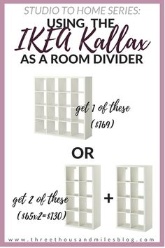 IKEA Kallax Room Divider Hack! - Save money by buying multiples instead of getting 1 large one!!