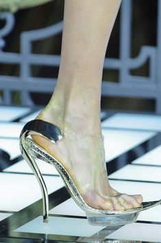 Versace Atelier Spring 2013 wonder how these are to walk on!!