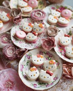 Hello Kitty macarons by Melly Eats World (@mellyeatsworld)