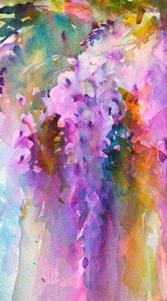 Watercolours With Life: Wistful Wisteria : Wisteria in Watercolour