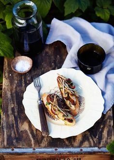 Sauteed mushroom & camembert bruschetta. Perfect as a starter or side