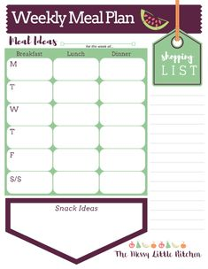Tips for Weekly Meal Planning from a Working Mom — The Messy Little Kitchen Weekly Meal Plan Template, Meal Planner Template, Jeep Cj7, Moving Checklist Printable, Moving Planner, New Cereal, Communication Plan Template, Impulsive Buy, Shopping List Grocery