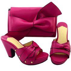 Khaki Italian Ladies Shoes and Bag Set