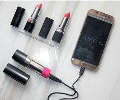 Avon Cosmetics lipstick phone charger