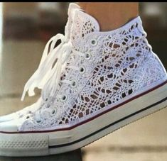 Lace Converse, would be adorable for the bride to be or just for the everyday use.