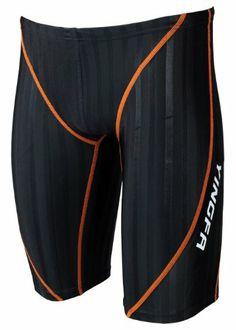 Yingfa Lightning Sharkskin Jammers MEN Swimming suit ,swimwear (Orange Line, XXL) Mens Workout Shorts, Workout Wear, Boys Swimwear, Swimsuits, Orange Line, Man Swimming, Mens Fitness, Sims, Mens Fashion