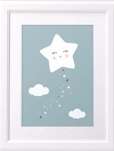Drucke & Plakate - Kleiner Stern ganz gross - A4 - ein Designerstück von curryonthecouch bei DaWanda