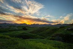 Sunset at Badlands National Park in South Dakota