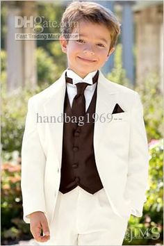 Wholesale Suits - Buy Custom Made Ivory Boy's Formal Occasion Children Wedding Suit Boys Attire A37, $52.41 | DHgate