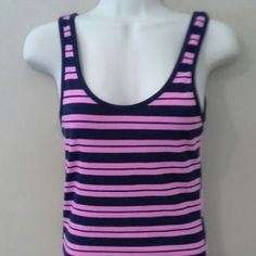 FRENCH CONNECTION TANK TOP French Connection SMALL tankie PINK NAVY French Connection Tops Tank Tops