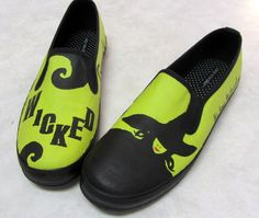 Items similar to Hand Painted WICKED Canvas Shoes f44ec71138f