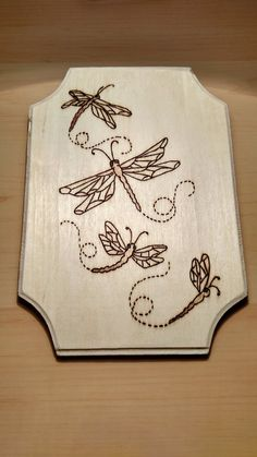 Items similar to Wood burned, dragonflies plaque on Etsy,Items similar to Wood burned, dragonflies plaque on Etsy What's wood burning ? The tree burnt by treatment approach by transferring an image on wood i. Wood Burning Tips, Wood Burning Techniques, Wood Burning Crafts, Wood Burning Patterns, Wood Patterns, Wood Crafts, Wood Burning Projects, Do It Yourself Baby, Pyrography Patterns