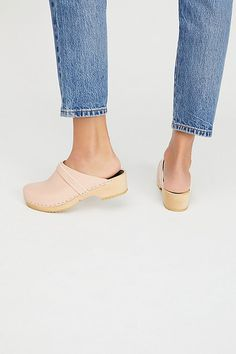 Discover recipes, home ideas, style inspiration and other ideas to try. Clogs Outfit, Wooden Clogs, Leather Clogs, Classic Leather, Heeled Mules, Vintage Inspired, Free People, Husband, Style Inspiration