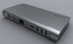 Belkin Thunderbolt Express Dock -- Gigabit Ethernet, 3x USB 2.0 ports, a Firewire 800 port, a 3.5mm headphone jack and two thunderbolt ports -- plus HDMI. But $299 is steep.