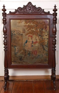 1860's American Rococo Rosewood Carved Firescreen ~ OUTSTANDING ...