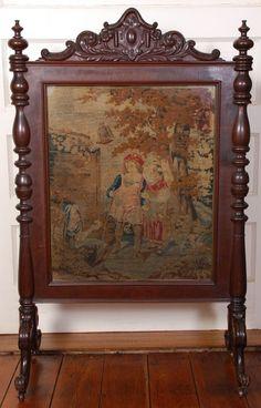 Hand Painted Fireplace Screen C Splendor Pinterest Painted Screens Victorian