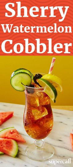 The classic Sherry Cobbler gets an extra boozy summer update in this refresher. Although a pour of vodka ups the ABV, watermelon juice mellows the mix so it's easy to sip anytime, anywhere.